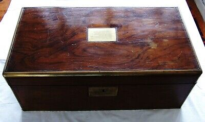 Extra Large Victorian Presentation Writing Slope Secret Drawers in need of tlc