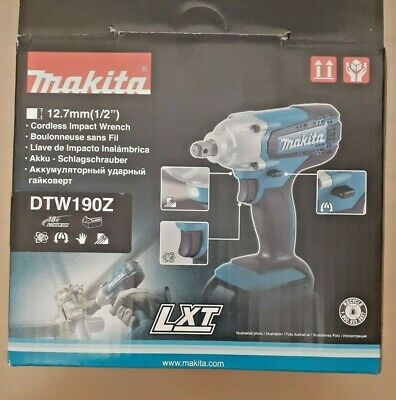 18V Makita DTW190Z LXT Cordless Impact Wrench 12.7mm 1/2'' Scaffolding Tool NEW