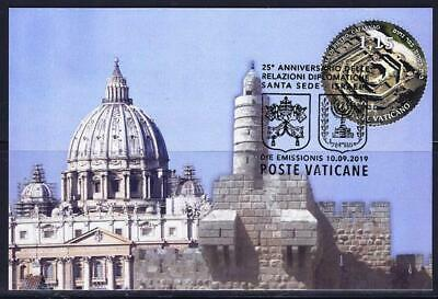 Vatican Join Issue Israel 2019 Stamp From Souvenir Sheet On Maximum Card