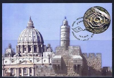 Israel Join Issue Vatican 2019 Stamp From Souvenir Sheet On Maximum Card