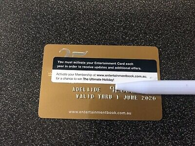 Adelaide Entertainment Book Gold Card 2019/20