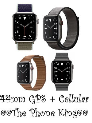 Apple Watch Series 5 Titanium Case 44mm Celluar Smart Watch BRAND NEW WARRANTY