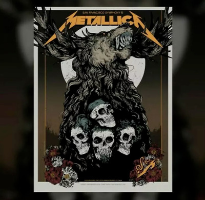 Metallica S&M2 San Francisco Symphony Poster Night 2 Chase Center 9-8-19