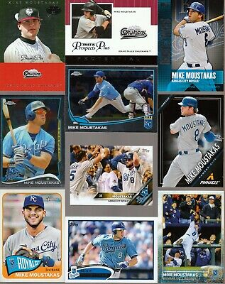 Huge 20 different MIKE MOUSTAKAS cards lot 2012- 2019 Royals Brewers