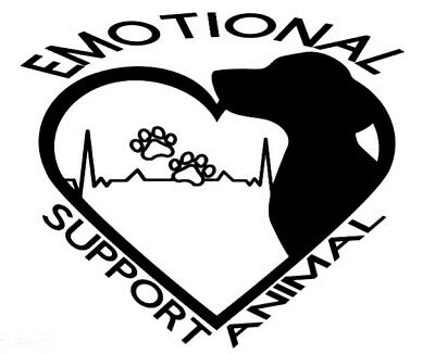 Emotional Support Animal ESA Vinyl Sticker Decal Different Colors To Choose