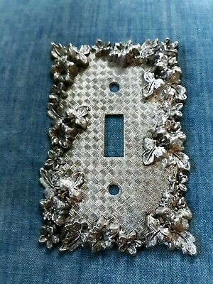Vintage Ornate Floral Brass American Tack & Howe Co. 1967 Switch Plate Cover