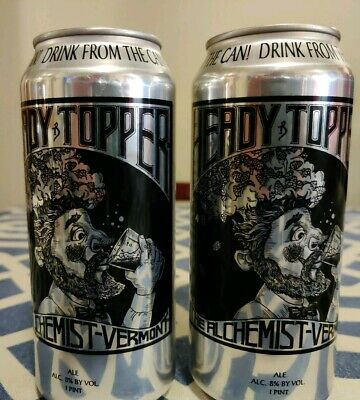 EMPTY-Heady Topper IPA Vermont The Alchemist Two Beer Cans Fresh