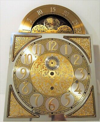 Vintage Grandfather Clock Sligh Dial, 3 Moons,  Estate Fresh