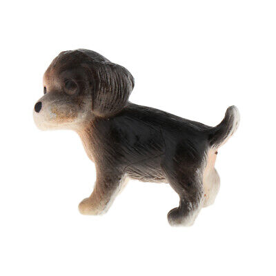 1/12 Scale Miniature Dog Figure Dollhouse Accessories for 1/6 Baby Doll B