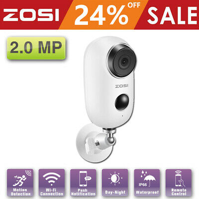 ZOSI 1080P Battery Wireless IP Camera Home CCTV Security Outdoor WiFi PIR Audio