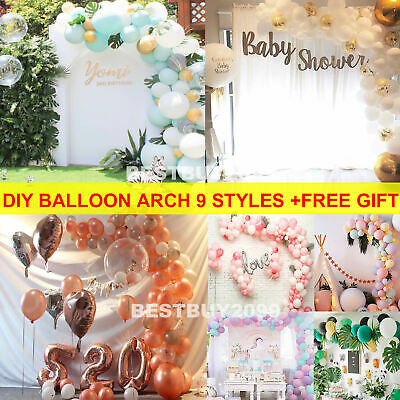 Confetti Latex Balloons Arch Garland Chain Birthday Wedding Baby Shower Party UK