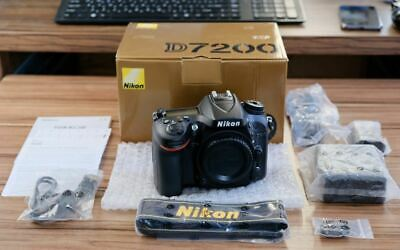 Nikon D7200 24.2MP DX-Format CMOS Sensor Digital SLR Body Black New Warranty