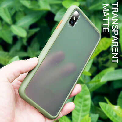 Slim Clear Matte Back Case for iPhone 11 Pro Max X XS XR Shockproof Bumper Cover