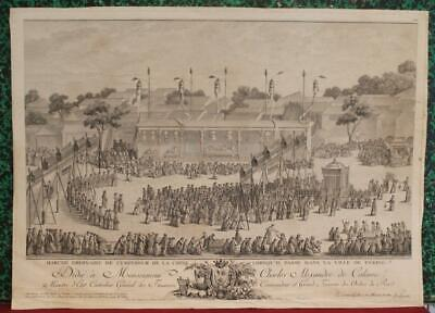 Peking (Beijing) Imperial Procession China 1785 Helman Unusual Antique View