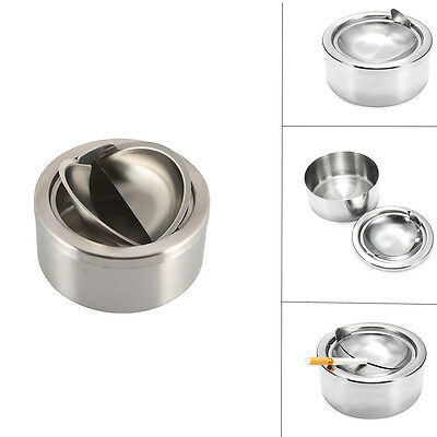 High Quality Stainless Steel WindProof Ashtray Smoking Accessories Thick Ashtray