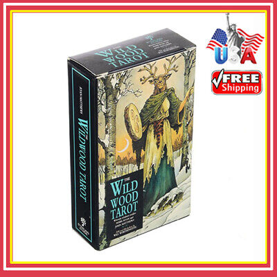 78Pcs Set Cards Wild Wood Tarot Cards Beginner Deck Vintage Fortune Telling USA
