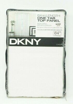 """DKNY Oasis One Tab Panel - Bottom Hem With Weights - 84"""" - White"""