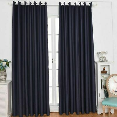 Thermal Blackout Curtains Ready Made Eyelet Ring Top + Pencil Pleat + Tie Backs