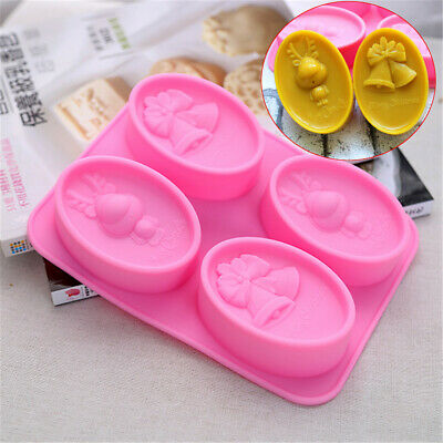 Silicone Christmas Bell Deer Handmade Soap Mold Cake Chocolate Mould Baking