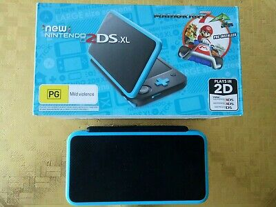 New Nintendo 2DS XL Game Console Black/Blue. Like new.