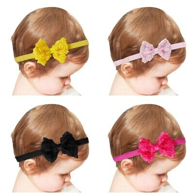 1Pc Baby Girls Puffy Bow Hairband Soft Elastic Headband Hair Accessories Band