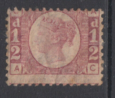 SG 48 1/2d Rose-Red Plate 11 Position AC average mint condition clear plate No's