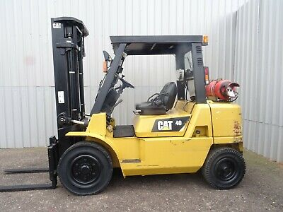 CAT GP40K. 3700mm LIFT USED GAS FORKLIFT TRUCK. (#2499)