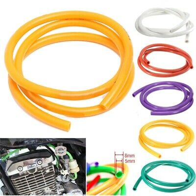 Petrol Fuel Hose Rubber Tube Gasoline Pipe Universal 1M Motorcycle 5mm I/D 8mm