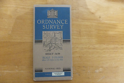 Ordnance Survey Map-Sheet 34/58-Scale 1:25,000-1947 Edition-Sedgwick Area