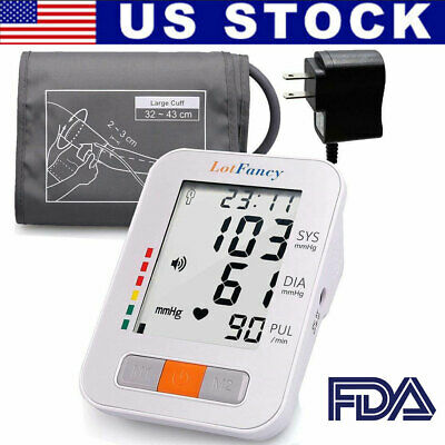 Automatic Digital Arm Cuff Blood Pressure Monitor Heart Beat Rate Pulse Meter US