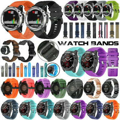 Replacement Silicone Nylon Stainless Steel Band Strap For Garmin Fenix 6 6S 6X