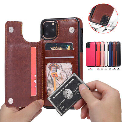 Fr iPhone 11 Pro Max Luxury Flip Leather Wallet Case Card Slot Shockproof Cover