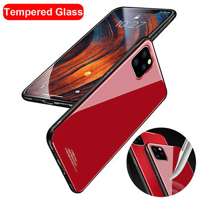 9H Tempered Glass Hybrid Bumper Case Cover for iPhone 11 Pro Max X XS XR 7 8Plus