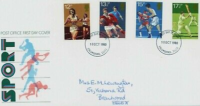 1980 Sport Royal Mail First Day Cover. Chelmsford Cancellation (FDC150)