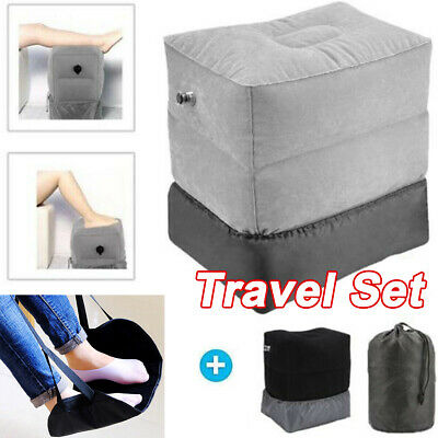 Inflatable Travel Footrest Pillow Plane Train Kids Bed Foot Rest Pad AU FREE SHI