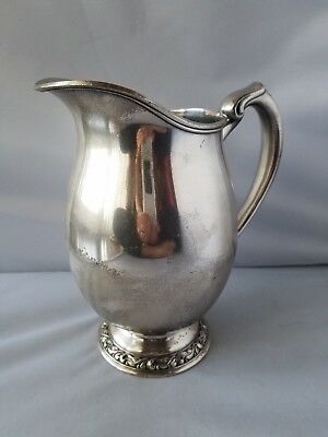 WMA Rogers Carol Silver Plate Silverplate Pitcher Vintage Antique Water Jug