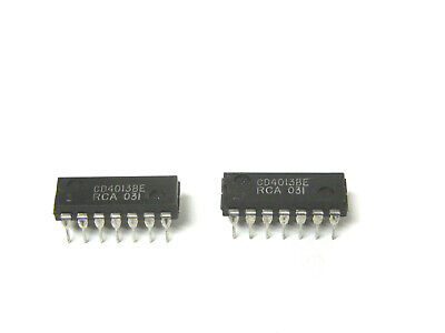 4 x RCA CD4013BE Integrated Circuits CMOS Dual D-Type Flip Flop DIP-14