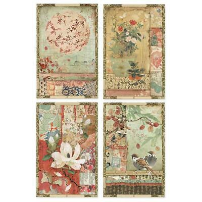 Rice Paper - Decoupage - Stamperia - 1 x A4 Size Sheet - Japanese Postcards