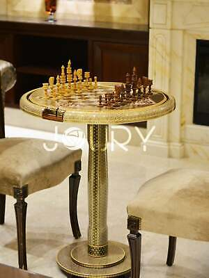Antique Chess Table, Poker Table, backgammon, wooden chess board, Christmas