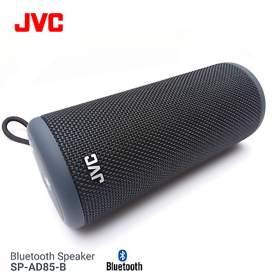 JVC SP-AD85-B Portable Bluetooth Speaker Wireless Charge out NFC AUX in Black
