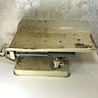 Vintage Detecto Beam Type Baby Scale 30 lbs FOR PARTS OR REPAIR Rusty NO Returns