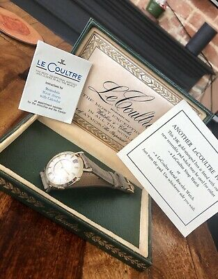 1950's LeCoultre Memovox Jaeger Alarm Henry Ford Limited Vintage Men's Watch
