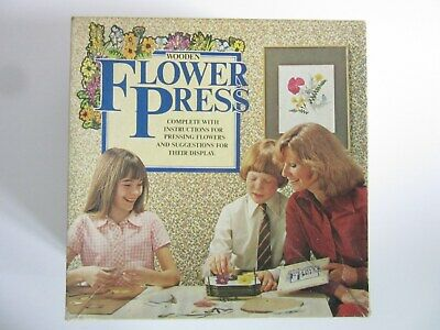 Flower Press - Wooden by Michael Stanfield with Instructions Boxed