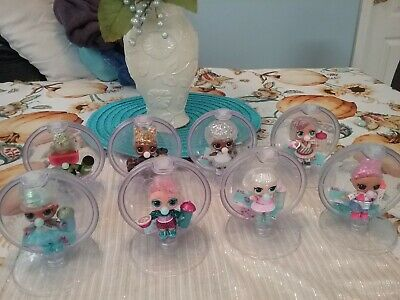 Lot of 8 LOL Surprise! Glitter Globe Winter Disco