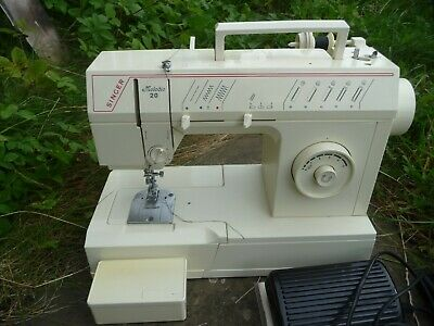 Singer Melodie 20 sewing machine serviced PAT tested manual zigzag attachments