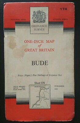Ordnance Survey One-Inch Map, Sheet 174: Bude (Paper Map, 1961).