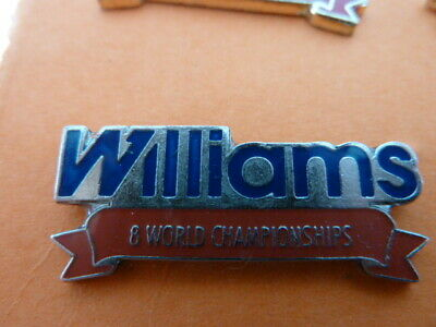 Pin's  Voitures  /  Sigle  Williams  / 8 World Championships  / Superbe