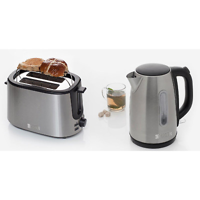 Haden Stainless Steel Kettle and 2 Slice Toaster Set