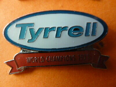 Pin's  Voitures  /  Sigle  Tyrrell  / World Champions 1971  / Superbe