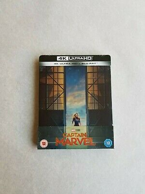 Captain Marvel Blu-Ray 4K Ultra HD Steelbook titre sur la tranche exclusif Zavvi